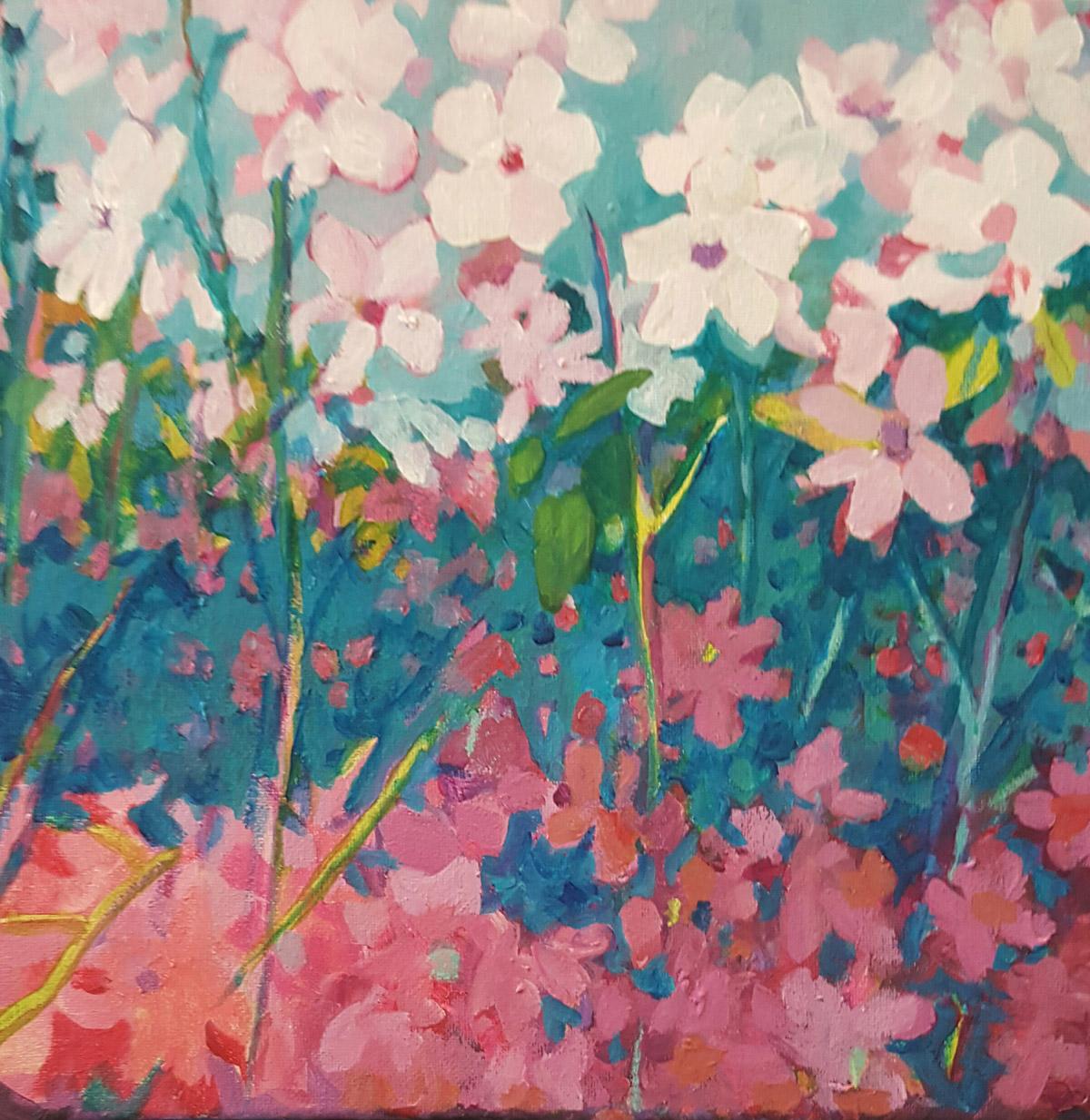 Painting of Summerville SC Vinca Flower