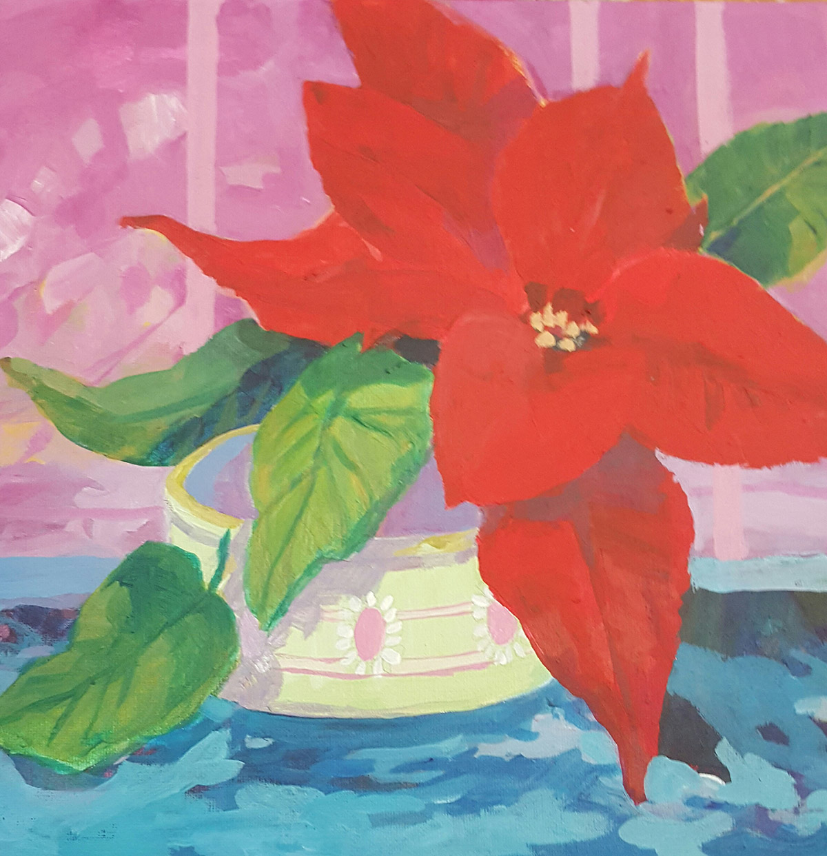 Poinsetta Painting