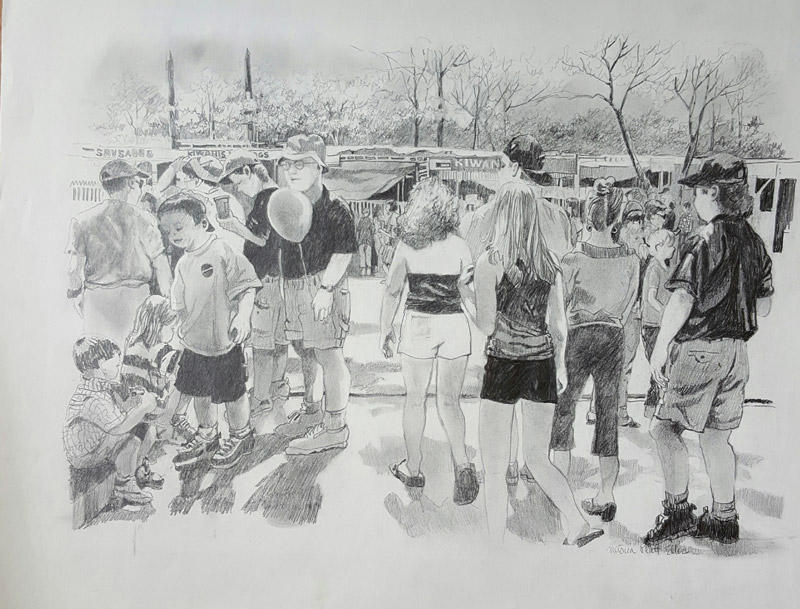 Flowertown Festival in Summerville Drawing