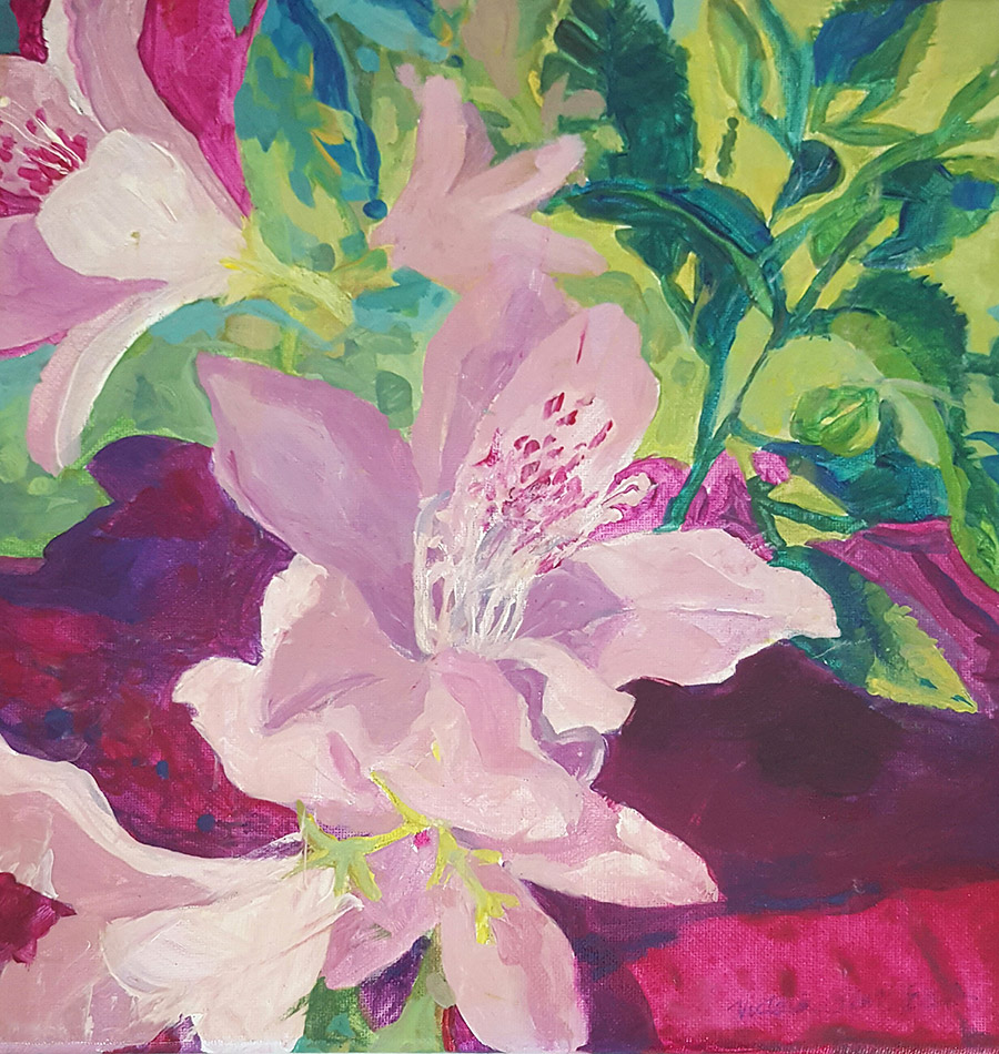 Painting of Azaleas by Victoria Platt Ellis