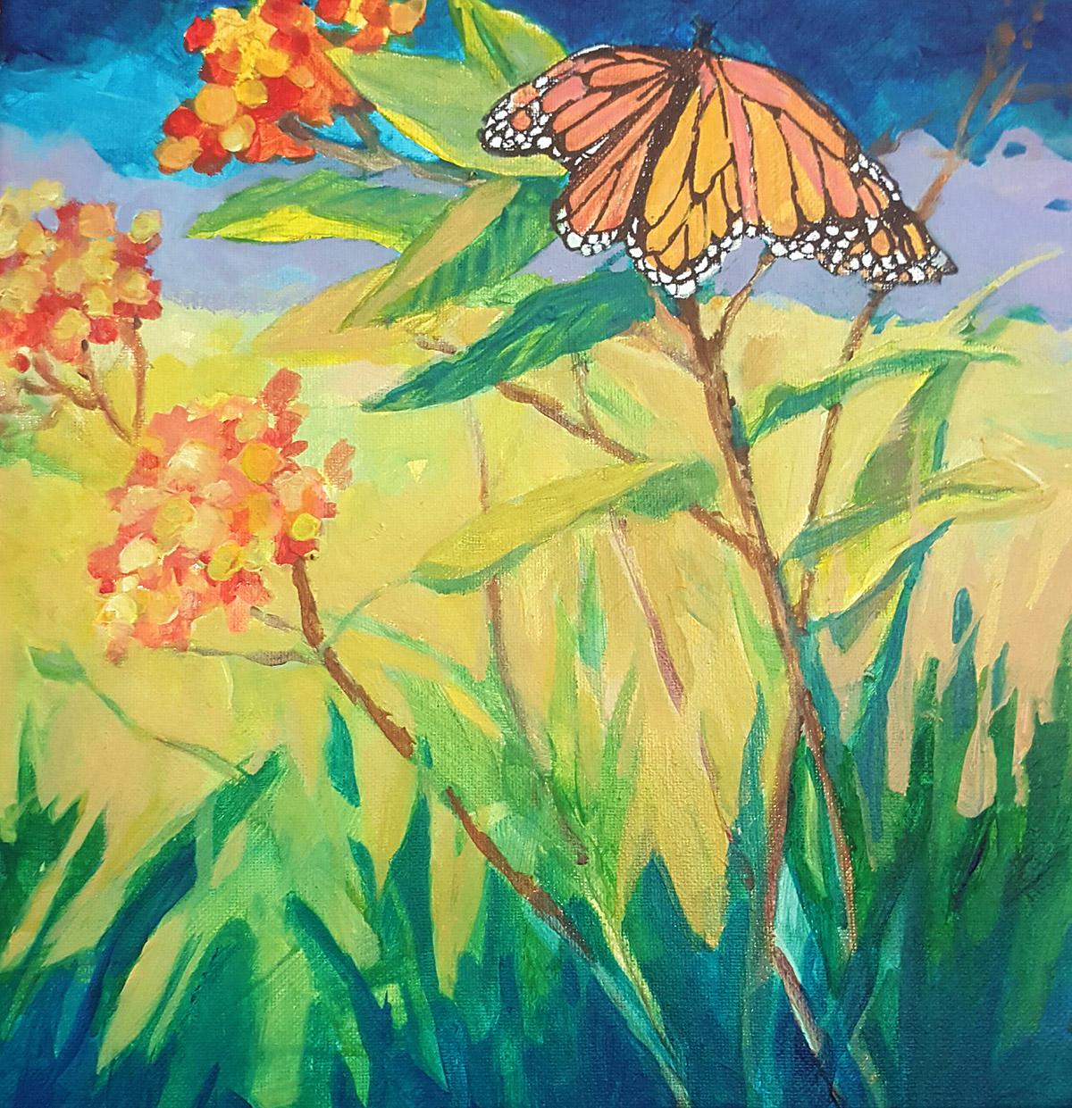 Milkweed Painting